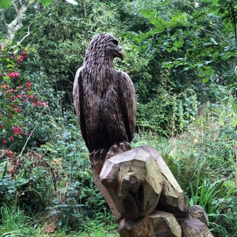 Wood carving at Allen's View